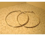 T103 large silver hoop earrings thumb155 crop