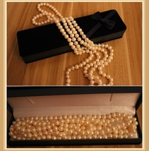 Endless Strand Opulent White Cultured Round 7-8m Freshwater Pearl Necklace