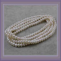 Endless Strand Opulent White Cultured Round 7-8m Freshwater Pearl Necklace image 2