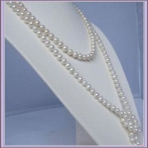 Endless Strand Opulent White Cultured Round 7-8m Freshwater Pearl Necklace image 3
