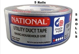 5 Rolls National Utility Duct Tape Basic Household Use, 1.89 in. x 40 yd. - $23.99