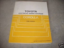 1988 Toyota Corolla Electrical Wiring Diagram Diagrams Troubleshooting Manual  - $69.25
