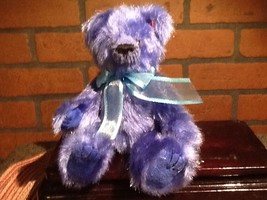 1993 TY Attic Treasures - Blue Orion Jointed Bear 1993 Vintage - $9.85