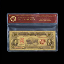 "WR 1901 Series US Gold Banknote $10 Ten Dollar Bill ""Bison Note"" Gold Note - $5.00"