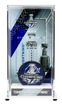 Victor Hedman Signed Lightning Stanley Cup Champs Logo Puck w/Case Fanatics - $188.09