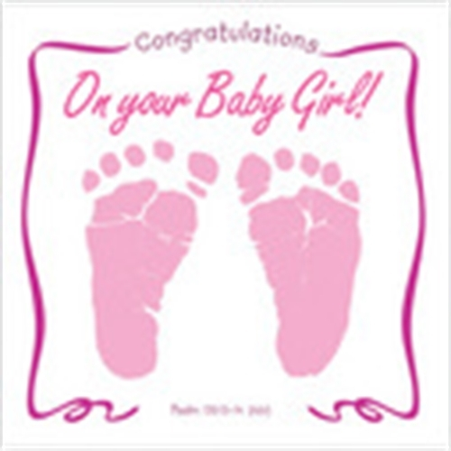 CONGRATULATIONS ON YOUR BABY GIRL-Greeting Card & CD by ...