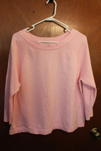 White Stag Solid Light Pink Sweater w/ 3/4 Sleeve - Size Ladies XL (16/18) - $9.99