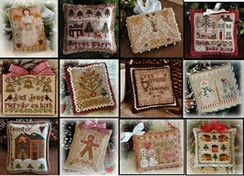 2012 Ornament Series  LOT 12 cross stitch charts Little House Needleworks - $61.20