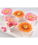 Personalized Favor Boxes Gerbera Daisy Favor Bo... - $13.74