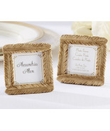 Gold Feather Picture Frame Place Card Holders - $1.82
