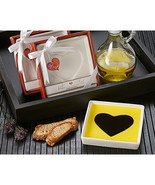 Olive Oil and Balsamic Vinegar Heart Dipping Plate - $4.89