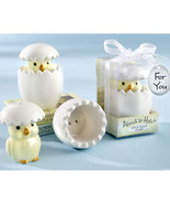 About to Hatch Ceramic Baby Chick Salt & Pepper... - $2.44