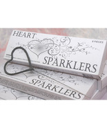 Heart Shaped Wedding Sparklers - Pack of 6 - $5.12