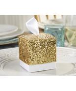Sparkle Gold Glitter Favor Boxes Set of 24 Wedd... - $14.43