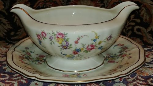 Primary image for Rosenthal Continental EVANGELINE gravy boat with attached underplate