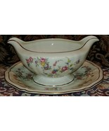 Rosenthal Continental EVANGELINE gravy boat with attached underplate - $71.06