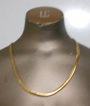"""Vintage Monet Slinky  23"""" Herringbone Gold Tone Flat Chain - $18.20"""