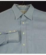 Burberrys Men's Dress Shirt Blue Checked Long Sleeve 80's 2 Ply 16 35 EUC - $39.98