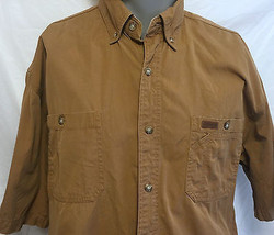 Carharrt Button Down Short Sleeve Work Shirt Size Large Construction Hun... - $28.04