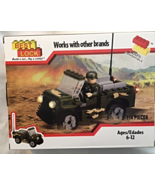 Best-Lock Construction Toys  Military Vehicle and Action Figure 114 pie... - $25.99