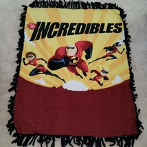 The Incredibles Disney Tie Knotted Fleece Blanket Baby Girl Boy Lap Viol... - $24.70