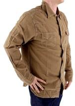BRAND NEW LEVI'S MEN'S LINEN LONG SLEEVE CASUAL DRESS SHIRT BROWN 8151400 image 2