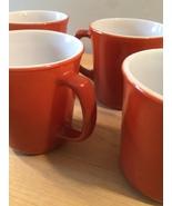 Vintage 60s set of 4 Corelle by Pyrex Burnt Orange mugs (discontinued an... - $30.00