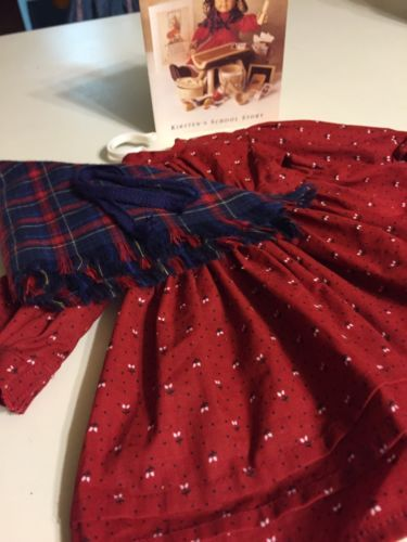 American Girl  Kirsten School Story Complete Outfit EUC Pleasant Co, Retired