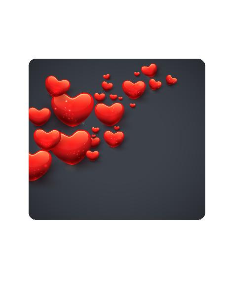 AL-Valentine Background Shape-Digital Clipart