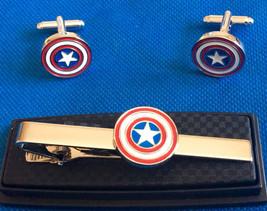 Captain America Tie Clip & Cufflink Gift Set - $39.99