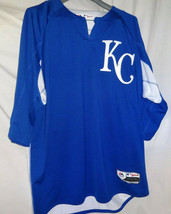 Kansas City Royals Majestic Authentic Collection On-Field 3/4-Sleeve BP Jersey - $59.39