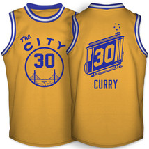 Golden state warriors stephen curry the city 1966 1971 gold jersey thumb200