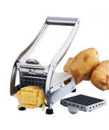 Stainless Steel French Fry Cutter Potato Vegetable Slicer Chopper Dicer ... - $33.43 CAD