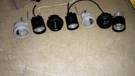 5YY66 LIGHT BULB SOCKETS, MEDIUM BASE, ASSORTED, 7 PCS, GOOD CONDITION - $10.55