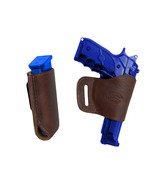 Barsony Brown Leather Yaqui Gun Holster w/Mag Pouch for Ruger, Star Full... - $44.99