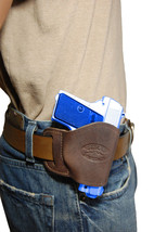 NEW Barsony Brown Leather OWB Yaqui Holster Astra, AMT, CZ Mini-Pocket 22 25 380 - $26.99