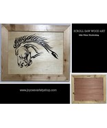 "Scroll Saw Art Mike Wilson Woodwork Horse Head 17"" x 14"" Framed - $34.99"