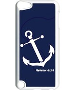 Navy Blue Faith Anchor with Hebrew 6:19 on iPod Touch 5th Gen 5G White T... - $9.46