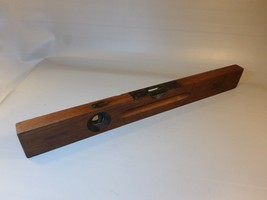 "Antique Stanley Sweetheart Wood & Brass Level No 3 24"" Pat 1908 - $31.81"