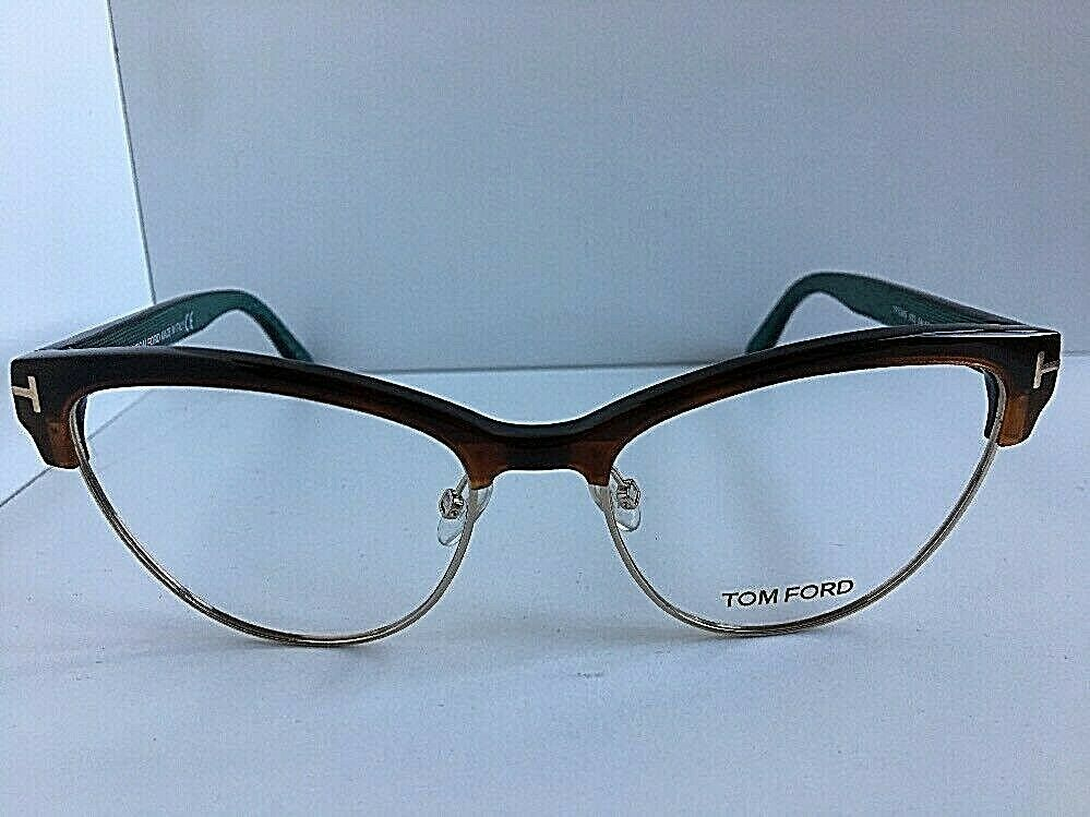New Tom Ford TF 5365 TF5365 052 54mm Cats Eye Women's Eyeglasses Frame Italy