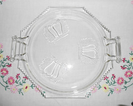 Jeannette Glass Baltimore Pear Open Handled Tray - $10.00