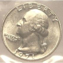 1971-P Washington Quarter MS64 In the Cello #363 - $3.49