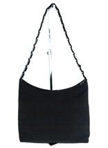 Auth SALVATORE FERRAGAMO Black Nylon, PVC & Metal Chain One Shoulder Bag... - $147.51