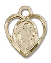 14K Gold St. Joseph Medal 3/8 x 1/4 inch - $172.60