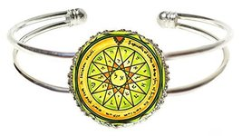 Solomons 4th Mercury Seal to Acquire Knowledge Silver Cuff Bracelet - $14.95