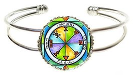 Solomons 1st Jupiter Seal for Business Success Silver Cuff Bracelet - $14.95