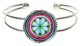 Solomons 3rd Mercury Seal to Bless Writers Silver Cuff Bracelet - $14.95