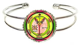Solomons 4th Jupiter Seal for Wealth & Honor Silver Cuff Bracelet - $14.95