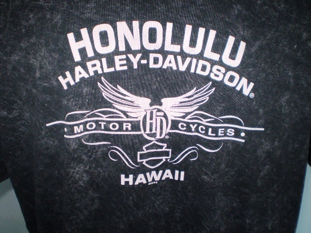 Harley-Davidson Black T-Shirt 2XL Honolulu, Hawaii