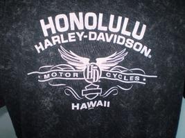 Harley-Davidson Black T-Shirt 2XL Honolulu, Hawaii image 1